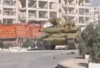Танк Т-90 со «Шторой» ударил по боевикам в Алеппо