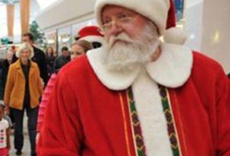 Санта-Клаус избил мужчину