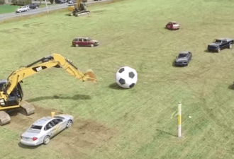 футбол автомобилями