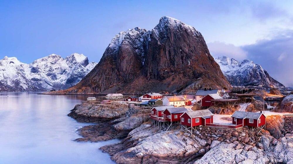 зима сказочно прекрасна, Хамнёй, Норвегия