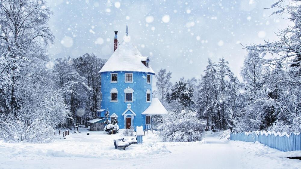 зима сказочно прекрасна, Парк развлечений «Страна Муми-троллей», Финляндия