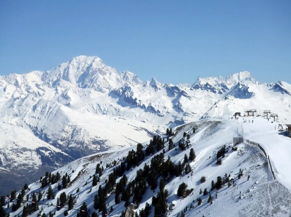 зима сказочно прекрасна, Альпы, Франция