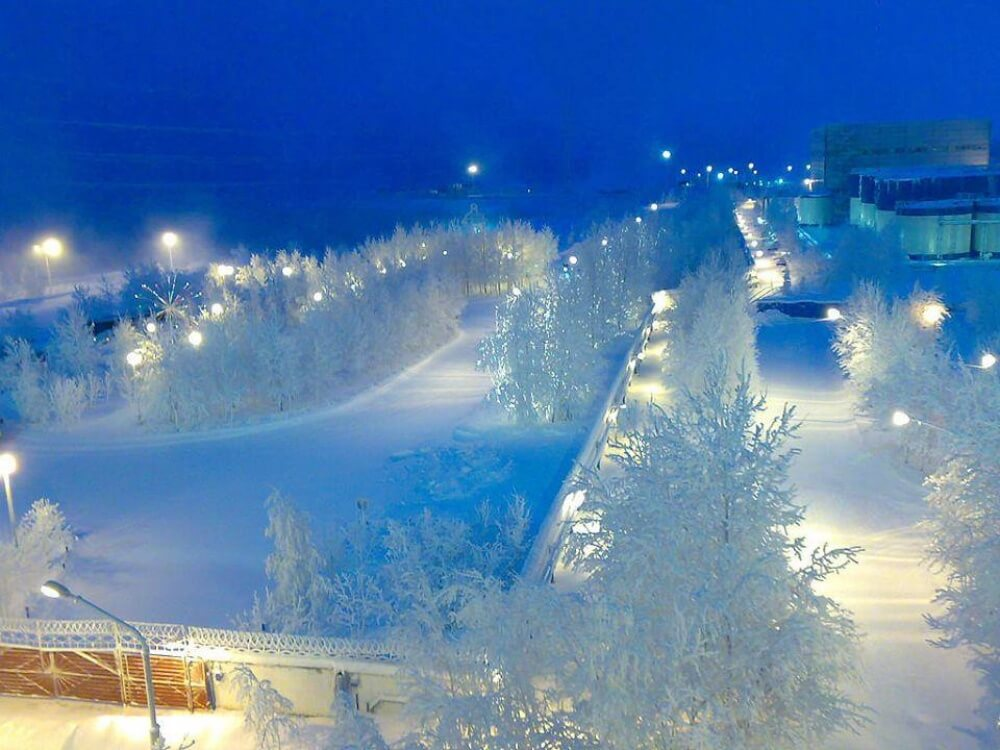 зима сказочно прекрасна, Сургут, Россия