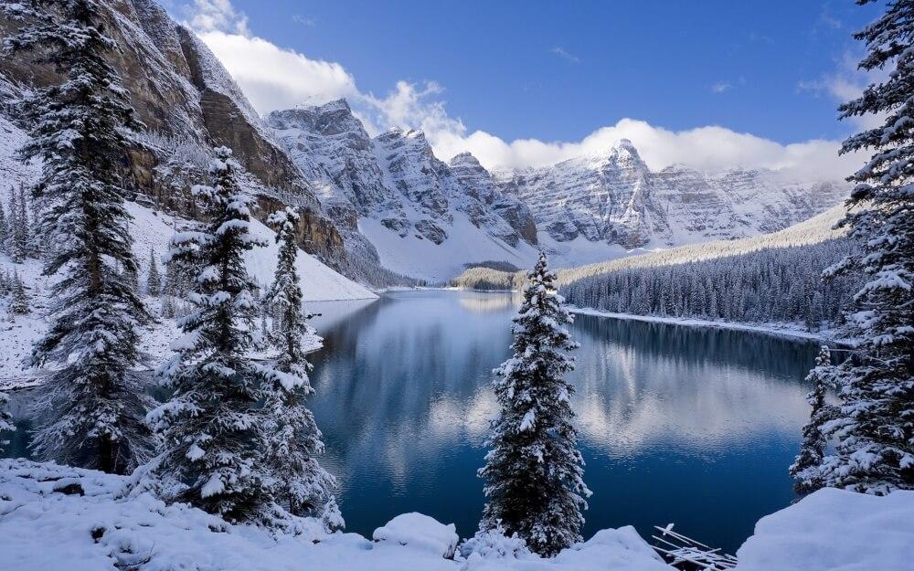 зима сказочно прекрасна, Национальный парк Банф, Канада