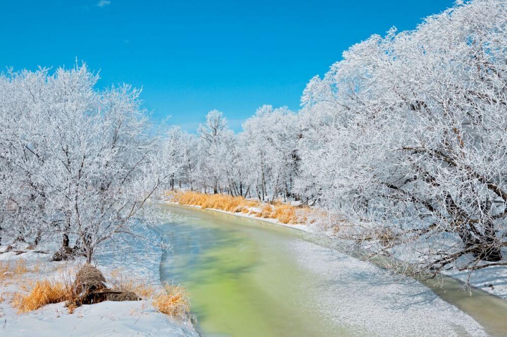 зима сказочно прекрасна, Манитоба, Канада