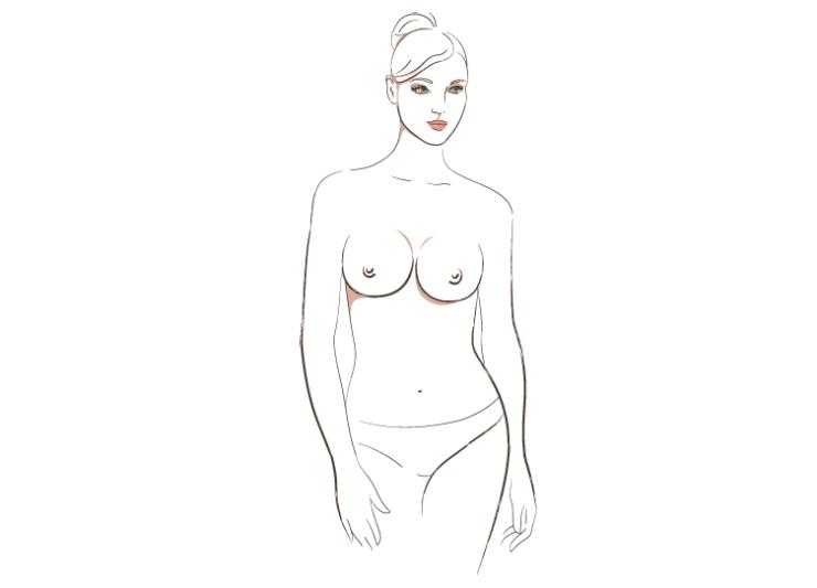 о чём говорит форма женской груди, 1 тип