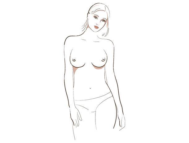 о чём говорит форма женской груди, 3 тип