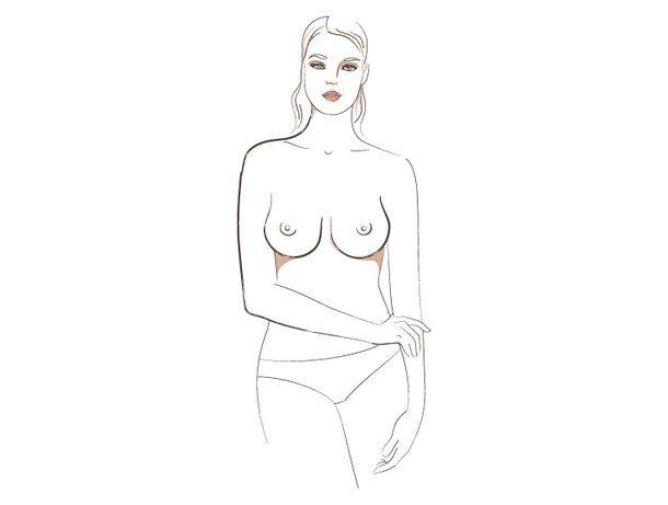о чём говорит форма женской груди, 7 тип