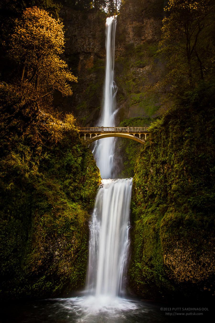 Удивительные мосты, Водопад Малтномах, Орегон, США
