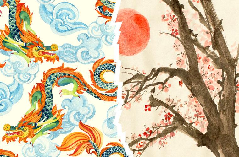 Китай и Япония, различие в символике