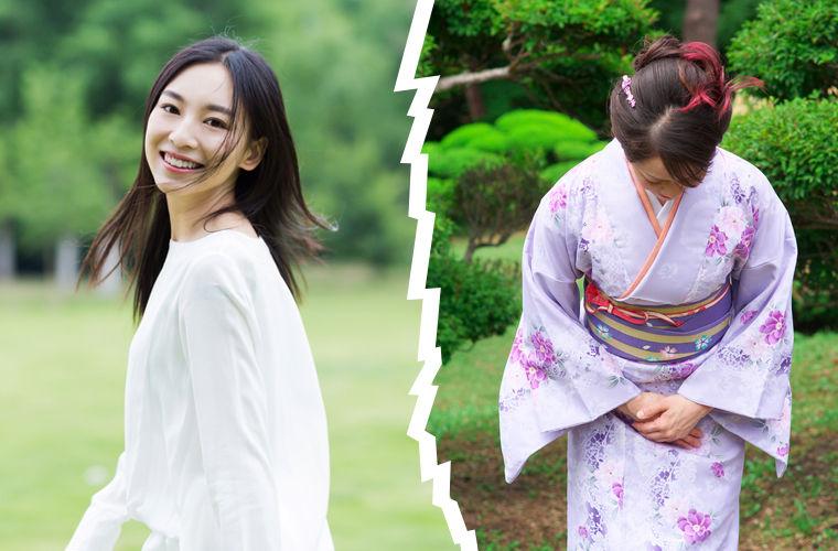 Китай и Япония, различие в одежде