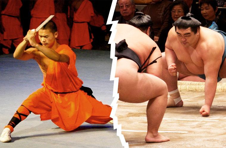 Китай и Япония, различие в единоборствах