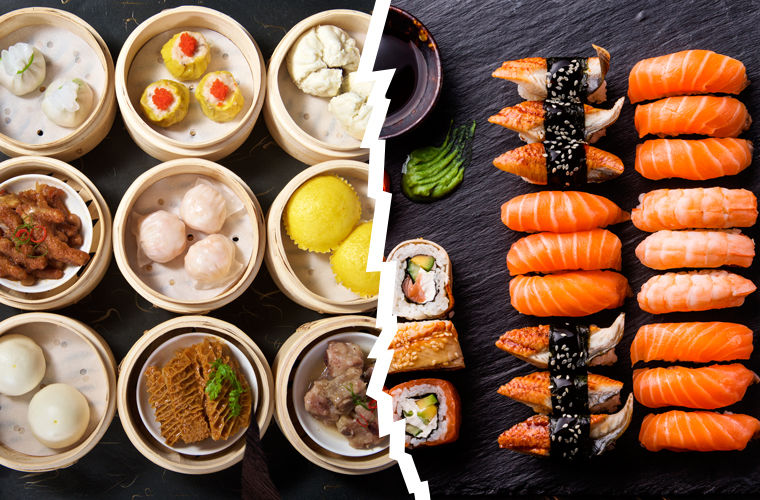 Китай и Япония, различие в еде