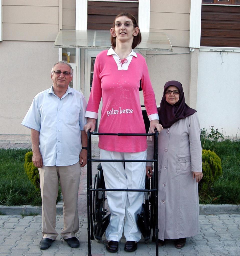 необычные рекордсменки Книги рекордов Гиннесса, Самая высокая девушка-подросток