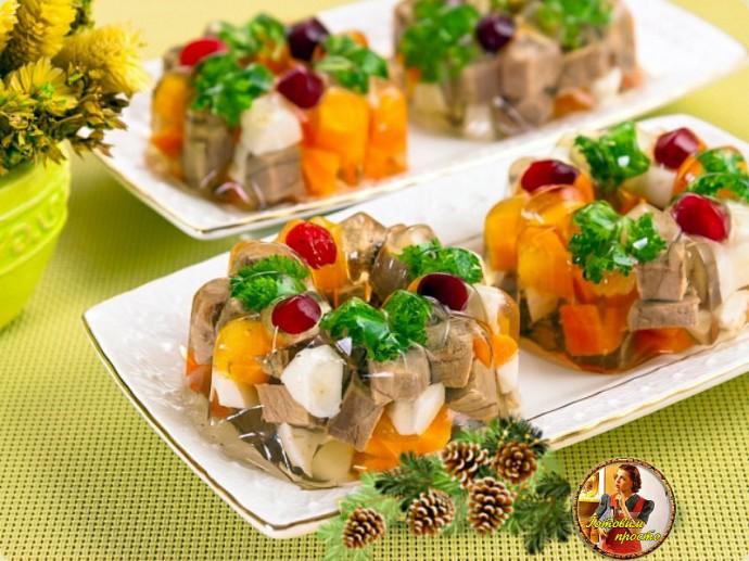 закуски к Новогоднему столу, заливное