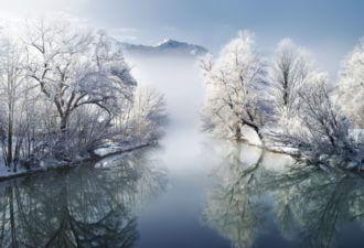 зима сказочно прекрасна, Бавария, Германия