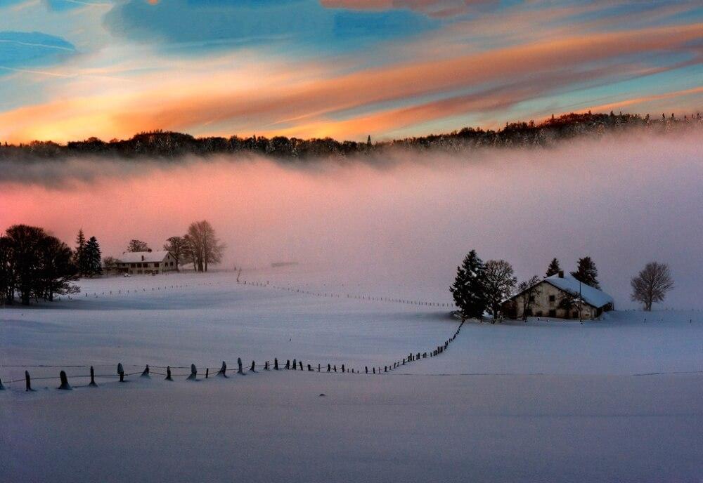 зима сказочно прекрасна, Коль де ла Турн, Швейцария