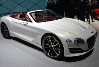 Роскошный электрический родстер Bentley