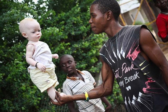 Африканская охота на альбиносов