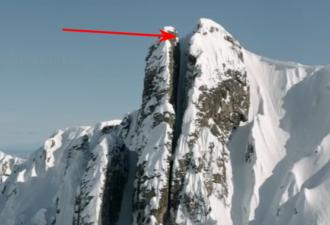 экстремал совершил невероятный, безумный спуск с горы