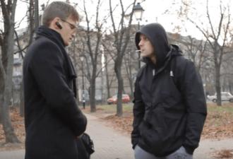 Встреча интеллигента с гопником в парке