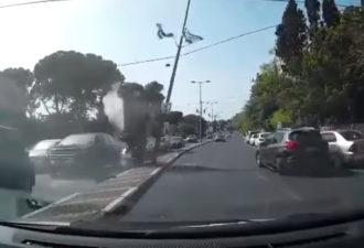 Audi устроил сумасшедшую аварию