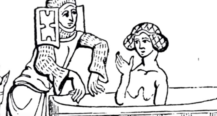факты о женской гигиене в Средневековье, купание