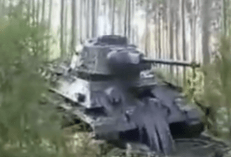 Подъём трофейного Т-34