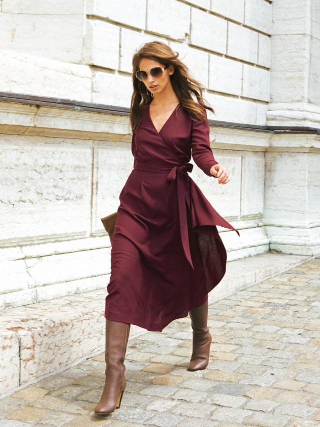 9a9061d39c38 Модный фасон платья с запахом модных фасонов платьев