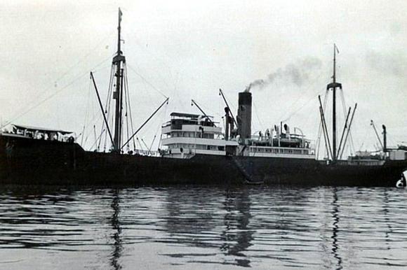 затонувший корабль нацистов