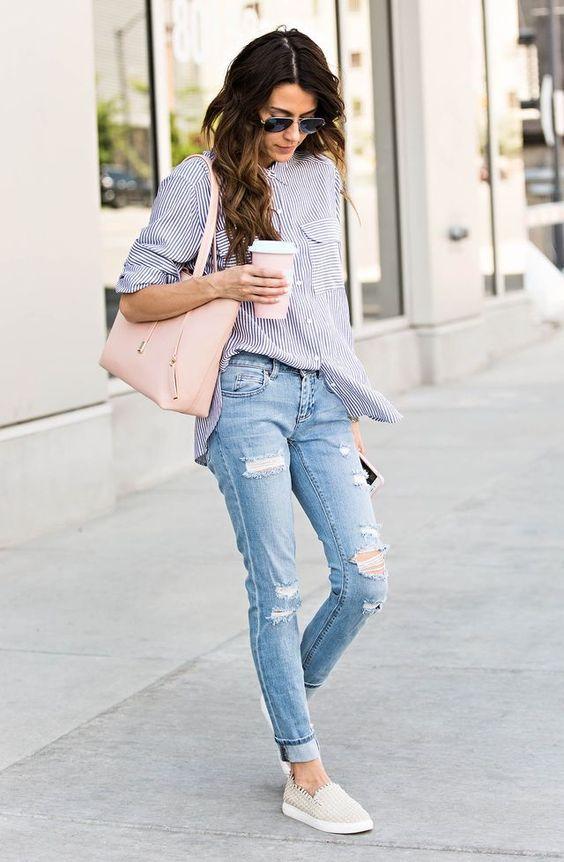 стильных сочетаний рубашки с джинсами